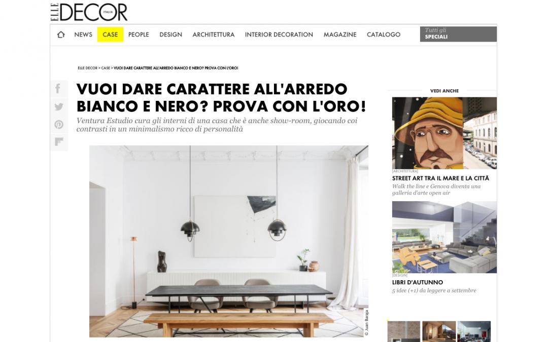 Aparición en Elle Decor Italia