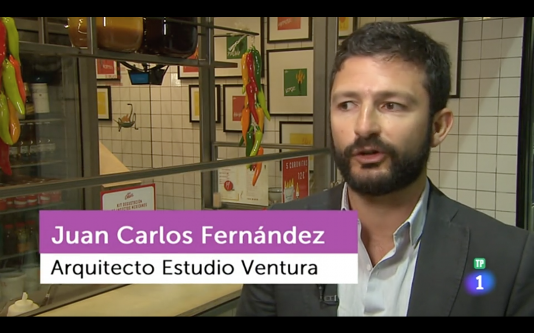 Two of our projects in Flash Moda Tve1, as benchmarks of the revamping of Madrid's markets